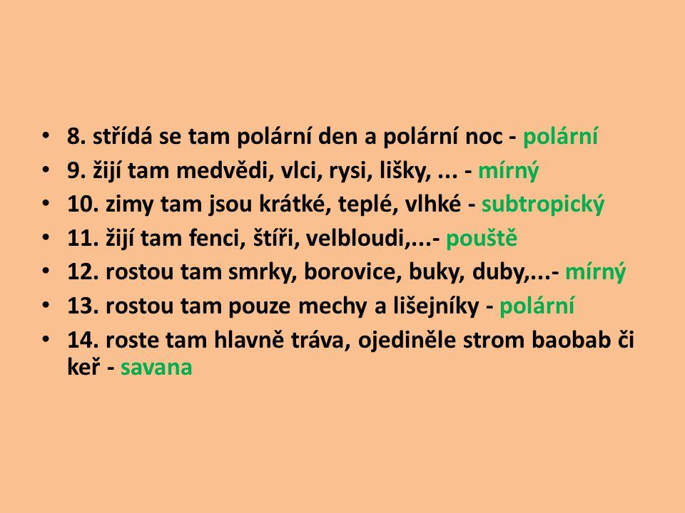 Zdroje : H. Kholová : Život na Zemi, přírodověda pro 5. roč., nakl. Alter