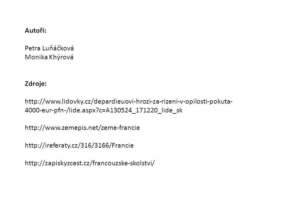 Zdroje: http://www.lidovky.cz/depardieuovi-hrozi-za-rizeni-v-opilosti-pokuta- 4000-eur-pfn-/lide.aspx?c=A130524_171220_lide_sk http://www.zemepis.net/