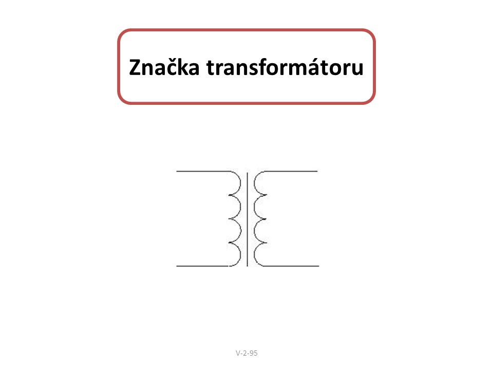 Značka transformátoru V-2-95