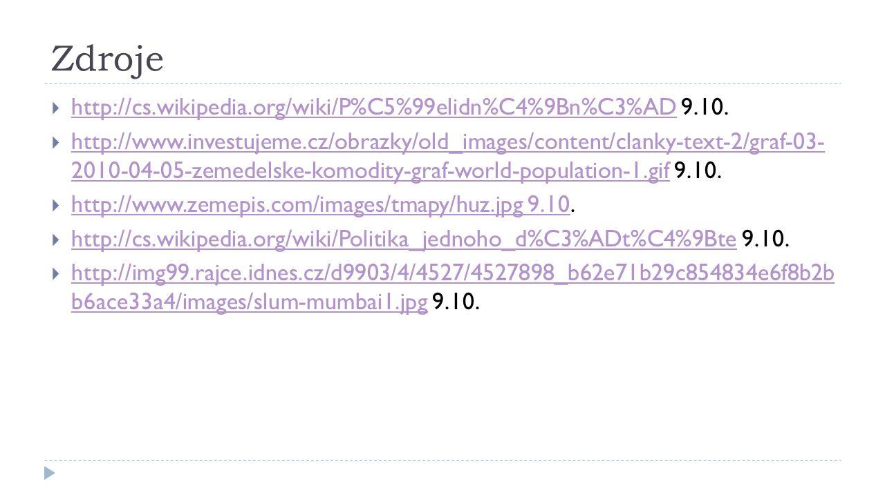 Zdroje  http://cs.wikipedia.org/wiki/P%C5%99elidn%C4%9Bn%C3%AD 9.10. http://cs.wikipedia.org/wiki/P%C5%99elidn%C4%9Bn%C3%AD  http://www.investujeme.