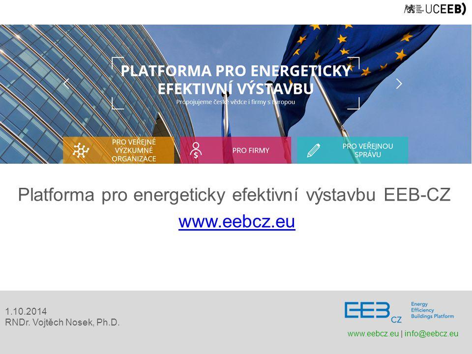Platforma pro energeticky efektivní výstavbu EEB-CZ www.eebcz.eu 1.10.2014 RNDr.