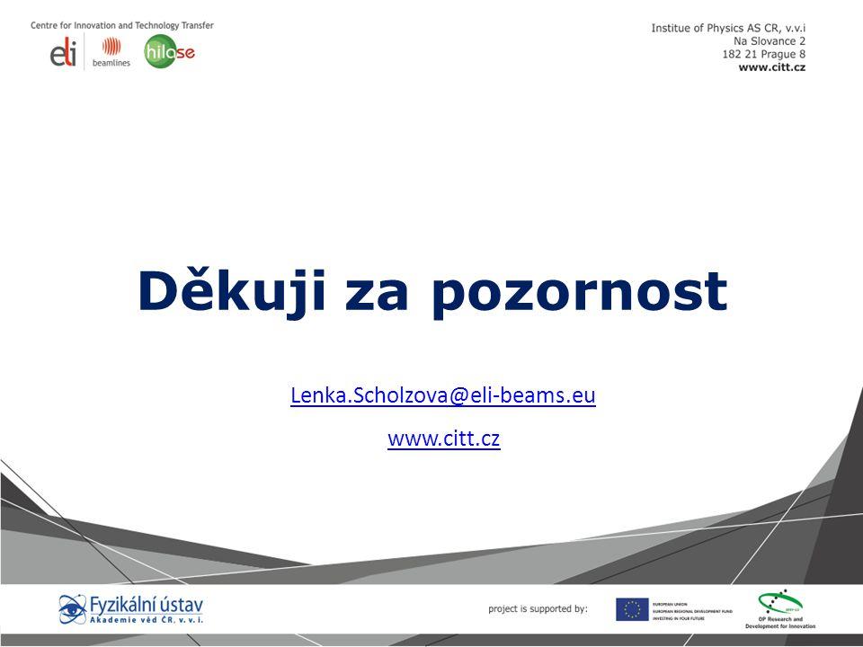 Děkuji za pozornost Lenka.Scholzova@eli-beams.eu www.citt.cz