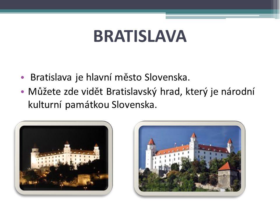 BRATISLAVA Bratislava je hlavní město Slovenska.