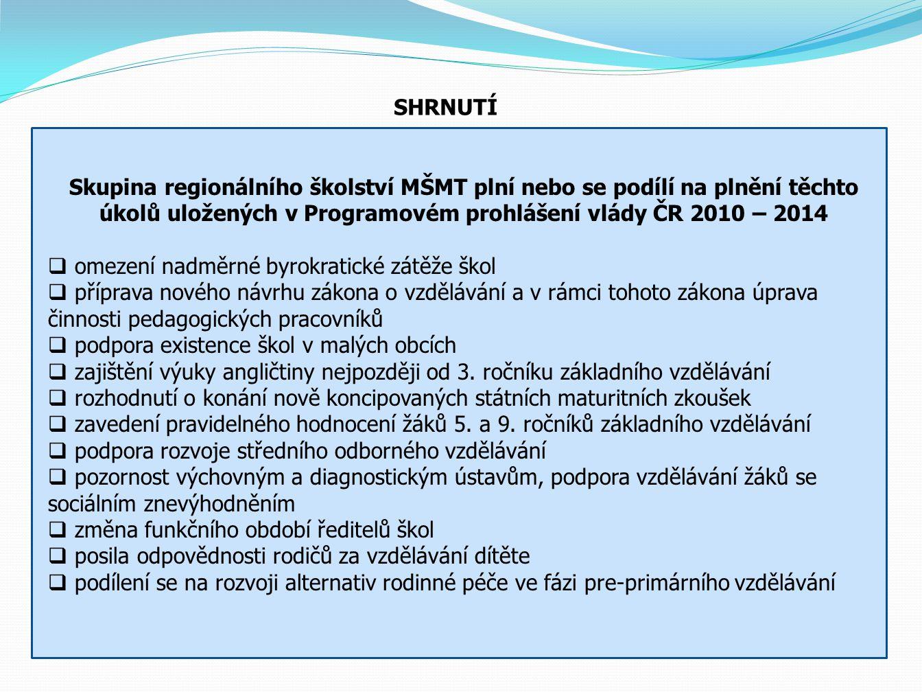 Ukázka modelového působení nového systému financování na obecní základní školy v působnosti obce III Jičín