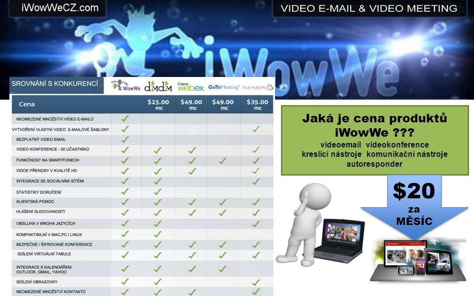 Jaká je cena produktů iWowWe ??.