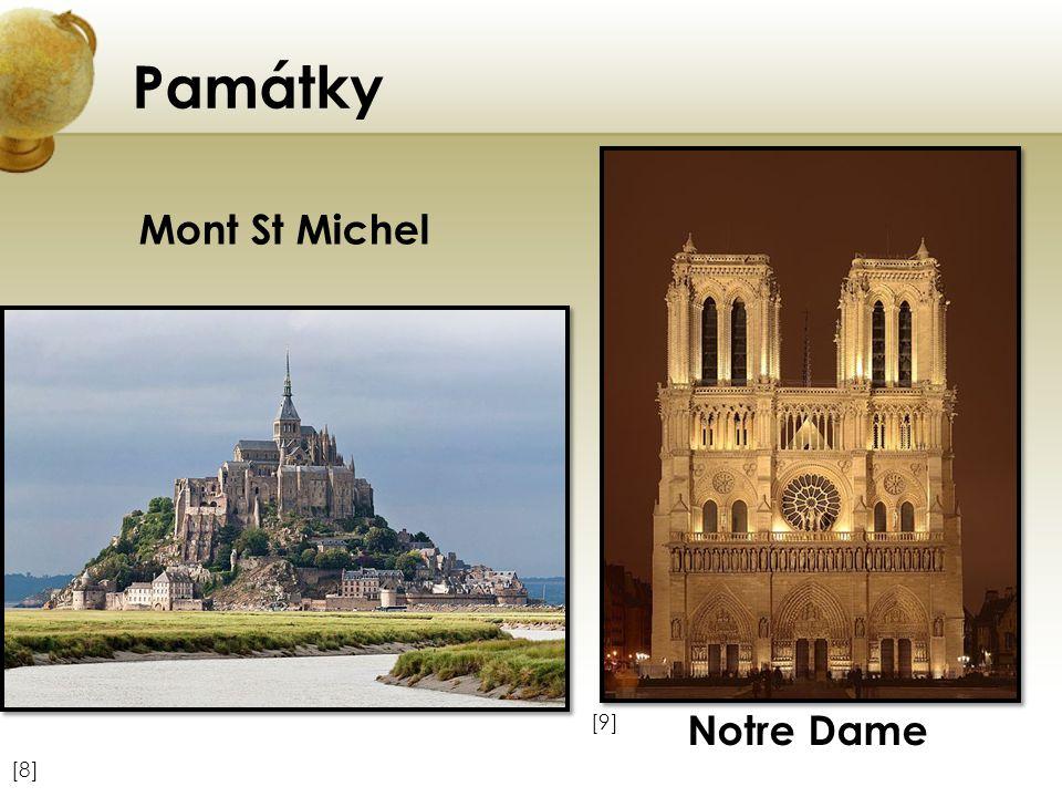 Památky [9][9] [8][8] Mont St Michel Notre Dame