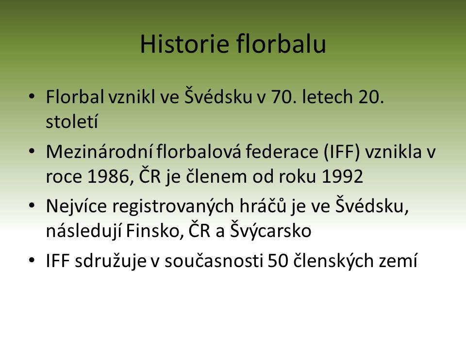 Historie florbalu Florbal vznikl ve Švédsku v 70.letech 20.