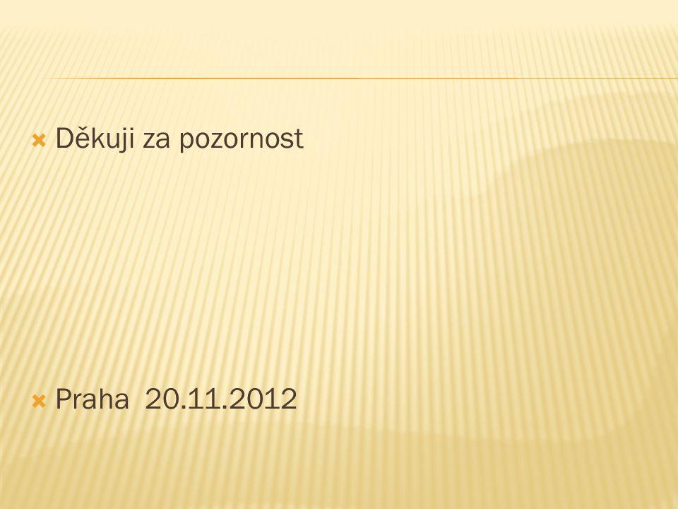  Děkuji za pozornost  Praha 20.11.2012