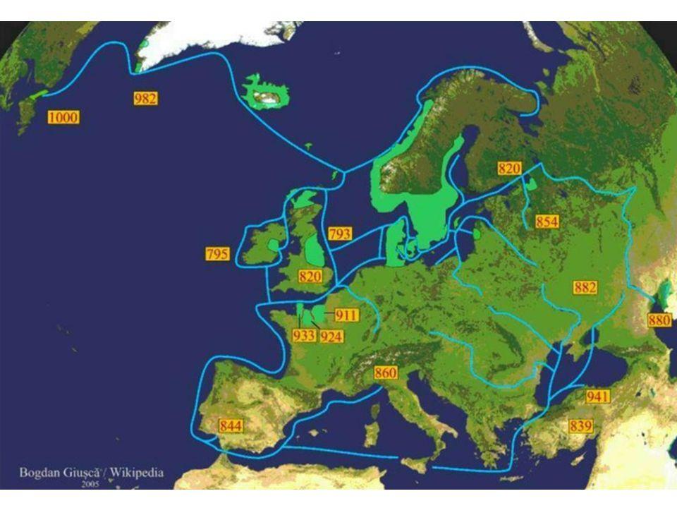 Dánští Vikingové - jihozápad, z.Balt, Středozemního m., s.