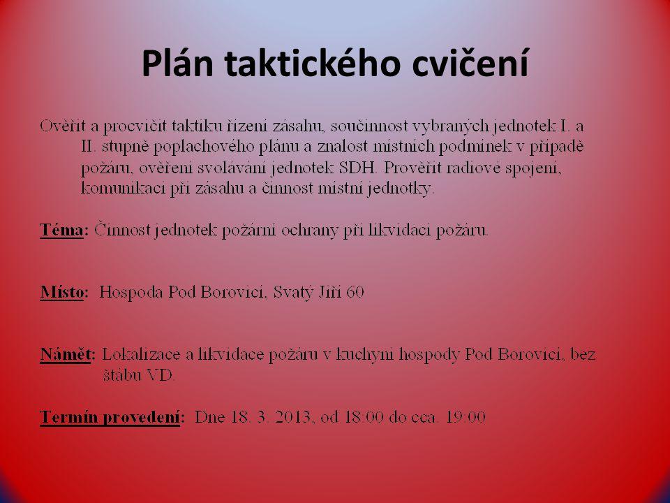 Plán taktického cvičení