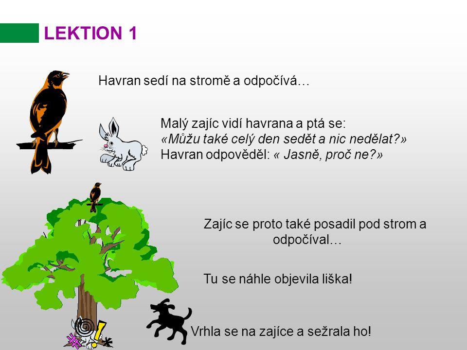 LEKTION 1 A morální poučení z příběhu.....