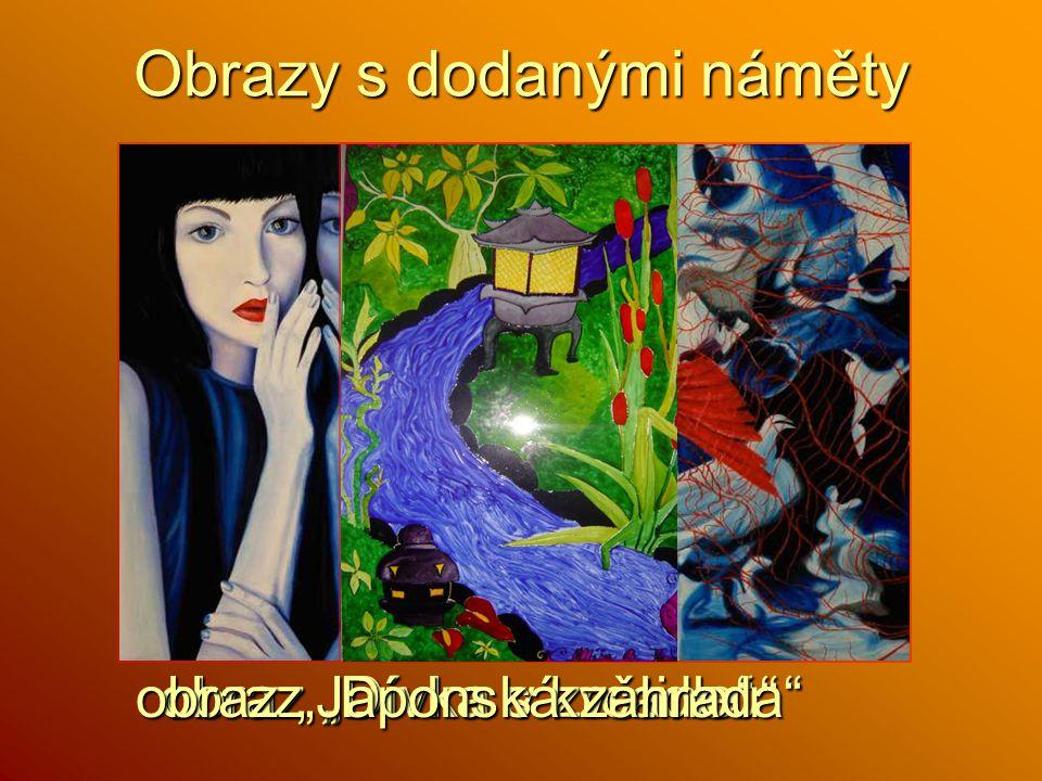 """obraz """"Dívka v zrcadle"""" obraz """"Dívka s květinou"""" Obrazy s dodanými náměty obraz """"Japonská zahrada"""""""
