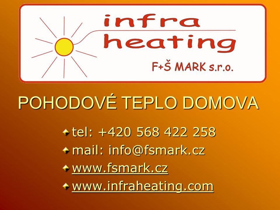 POHODOVÉ TEPLO DOMOVA tel: +420 568 422 258 mail: info@fsmark.cz wwww wwww wwww....