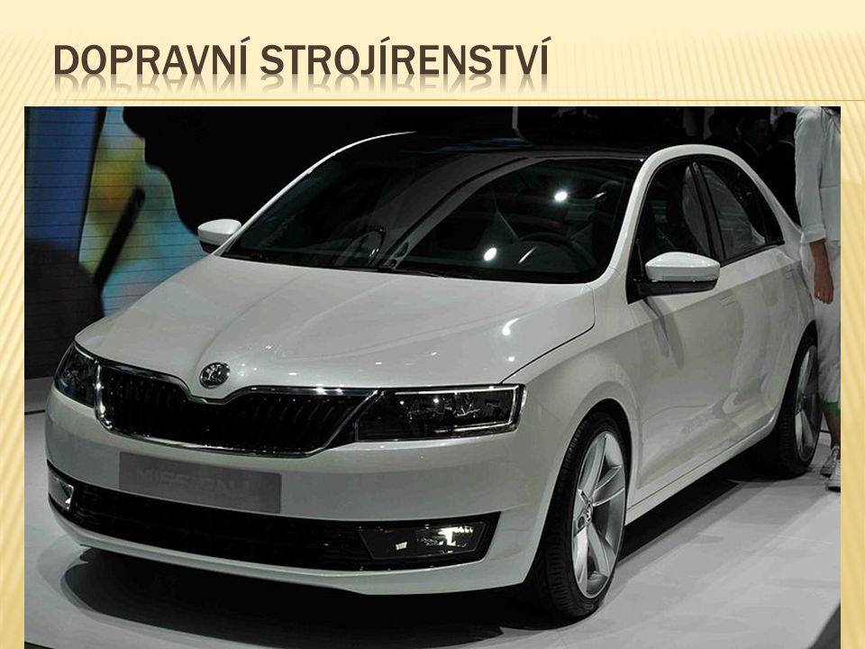 Automobily: Mladá Boleslav- Škoda Auto (Vrchlabí, Kvasiny) Nošovice - Hyundai Ovčáry u Kolína- TPCA Nákladní automobily: Kopřivnice - Tatra Praha – Av