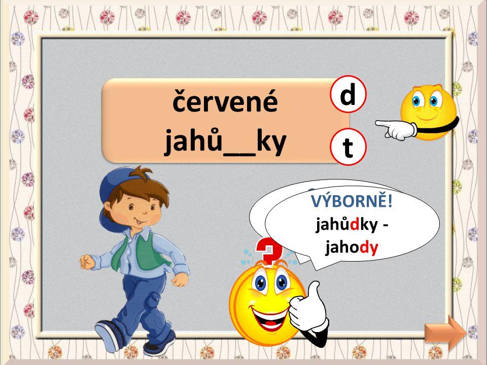 usměvavá Vla__ka ť CHYBA! Vlaďka - Vladěna ď VÝBORNĚ! Vlaďka - Vladěna