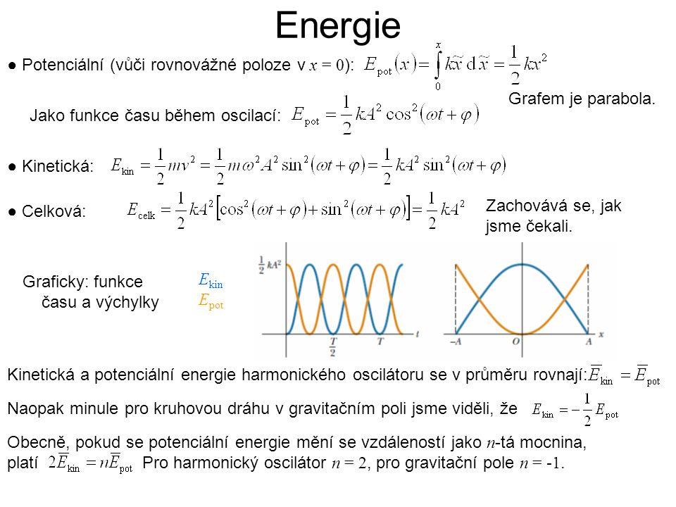 Obecně, pokud se potenciální energie mění se vzdáleností jako n -tá mocnina, platí Pro harmonický oscilátor n = 2, pro gravitační pole n = -1. ● Poten