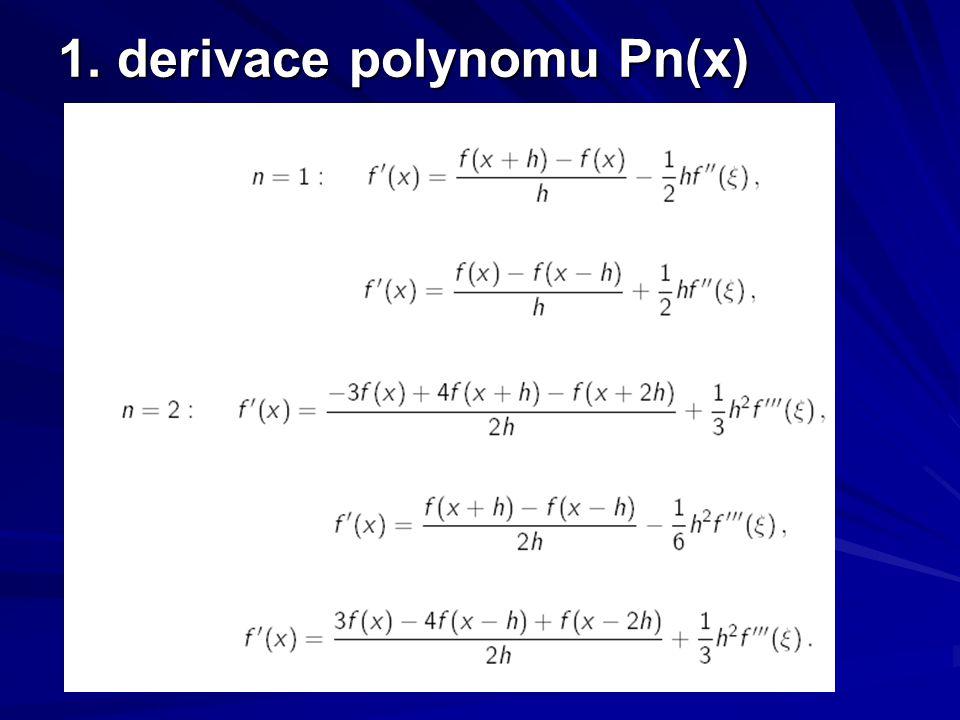 1. derivace polynomu Pn(x)