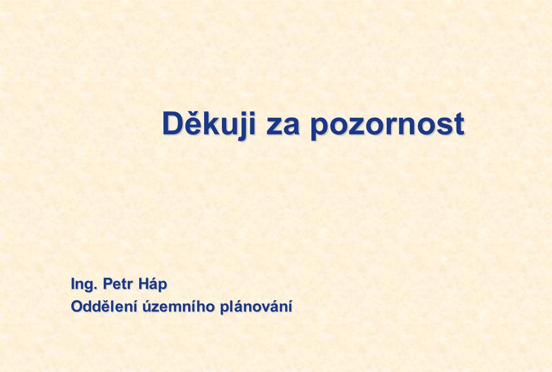 Děkuji za pozornost Ing. Petr Háp Oddělení územního plánování