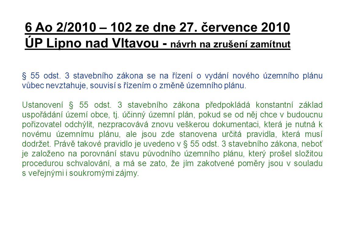 5 Ao 4/2010 – 29 ze dne 24.srpna 2010 Změna č.