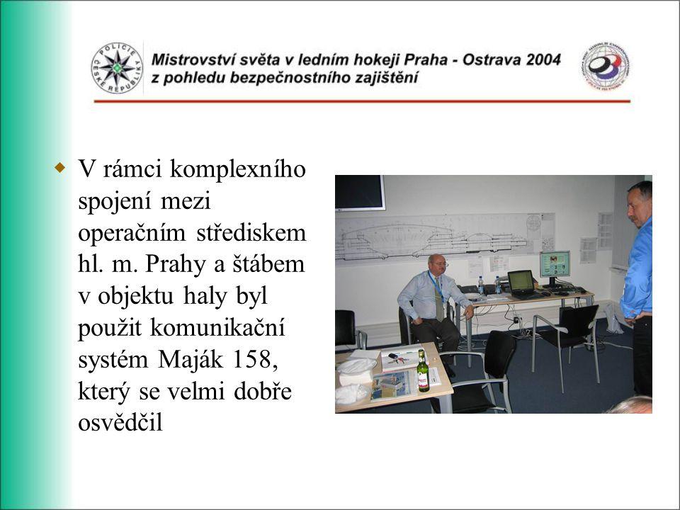  V rámci komplexního spojení mezi operačním střediskem hl.