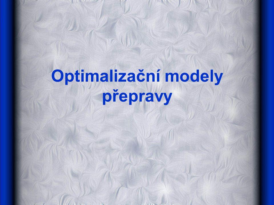 Optimalizační modely přepravy