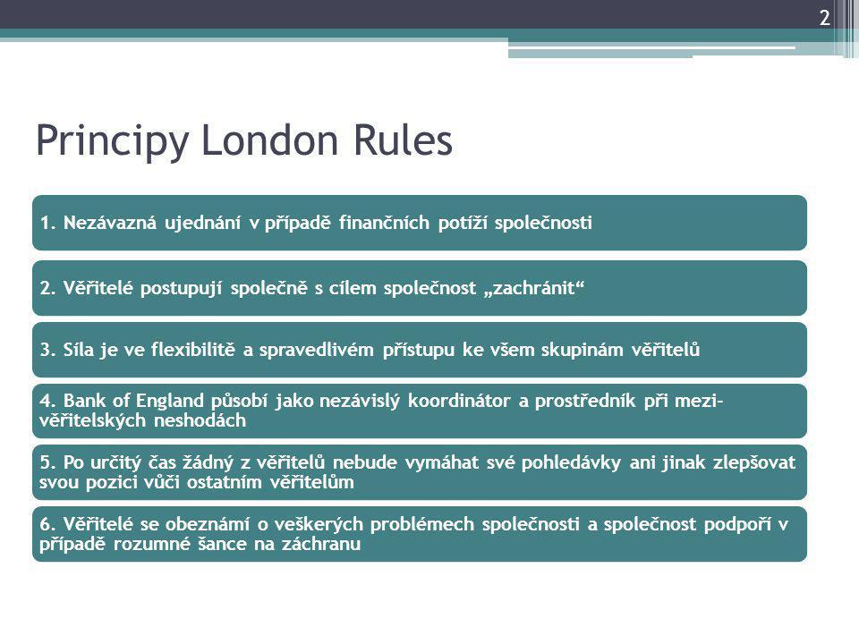 Principy London Rules 2 1. Nezávazná ujednání v případě finančních potíží společnosti2.