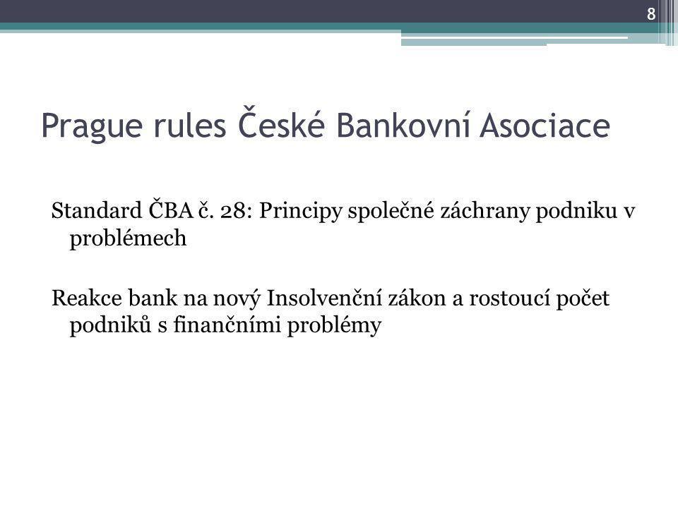 Prague rules České Bankovní Asociace Standard ČBA č.