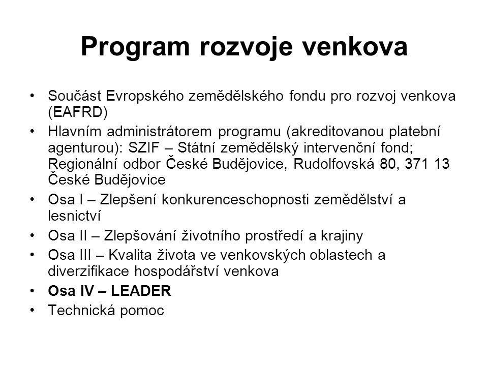 Opatření PRV zaměřená na obce a města: I.1.2.Investice do lesů III.2.1.1.