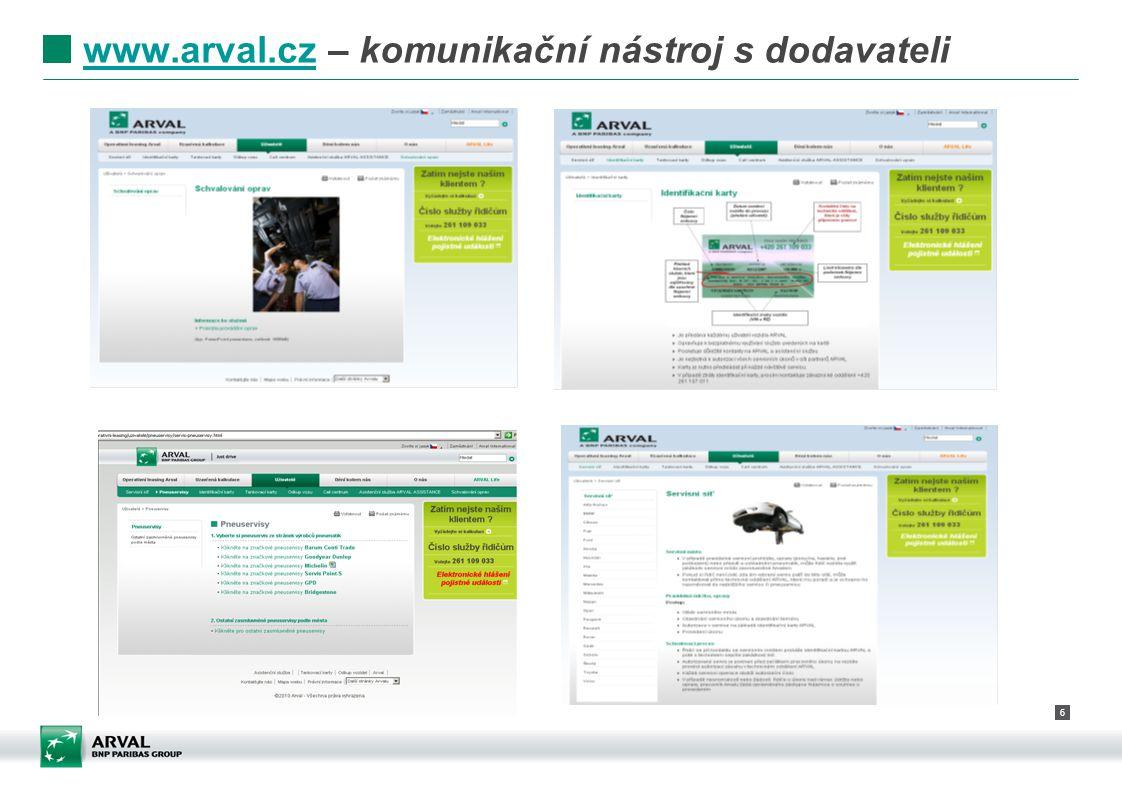 6 www.arval.czwww.arval.cz – komunikační nástroj s dodavateli