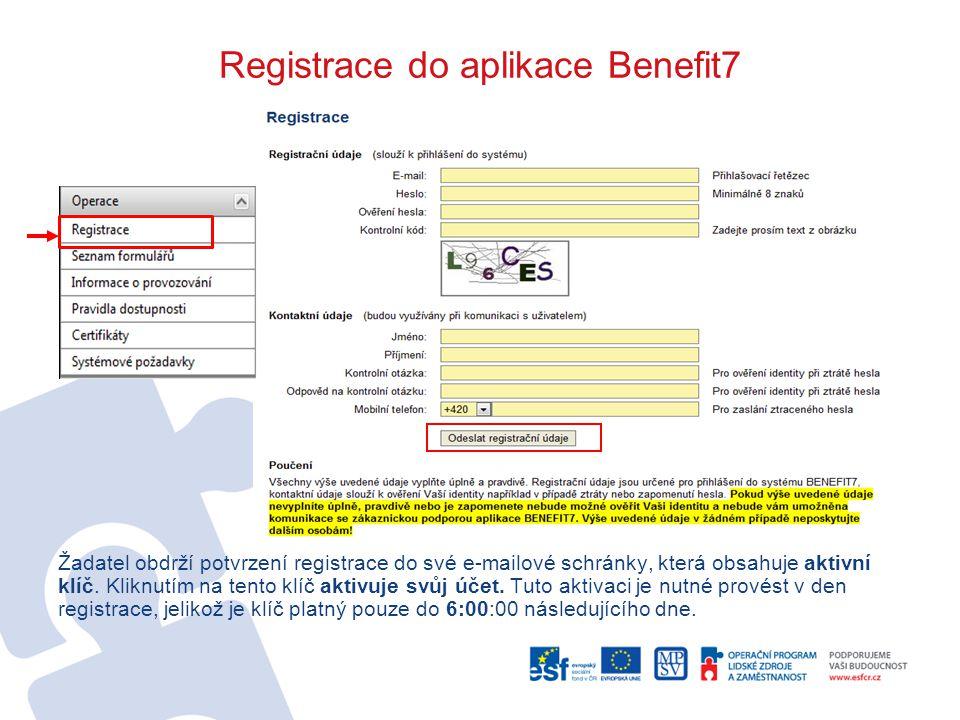 Zprávy 1 Do mailu přijde upozornění, že v Benefit7+ je zpráva