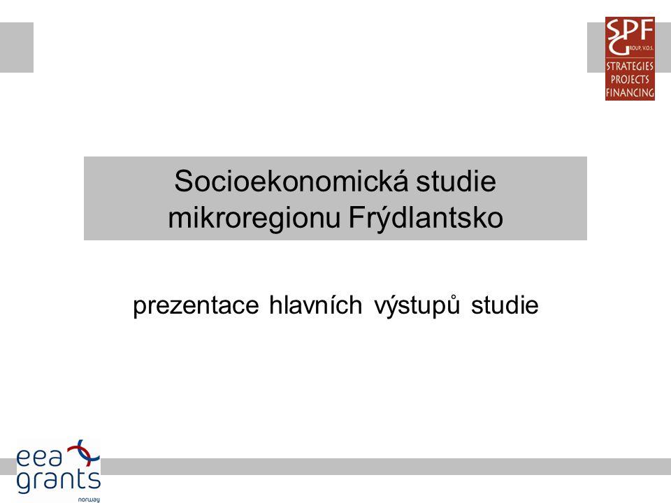 Socioekonomická studie mikroregionu Frýdlantsko prezentace hlavních výstupů studie