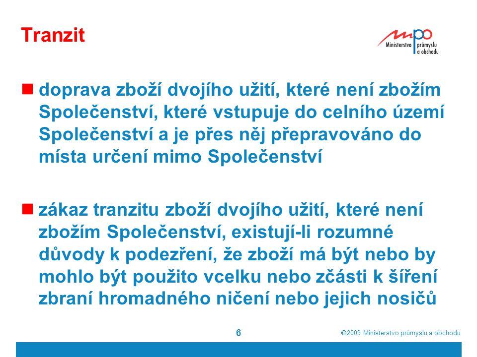  2009  Ministerstvo průmyslu a obchodu 7 Zákon č.