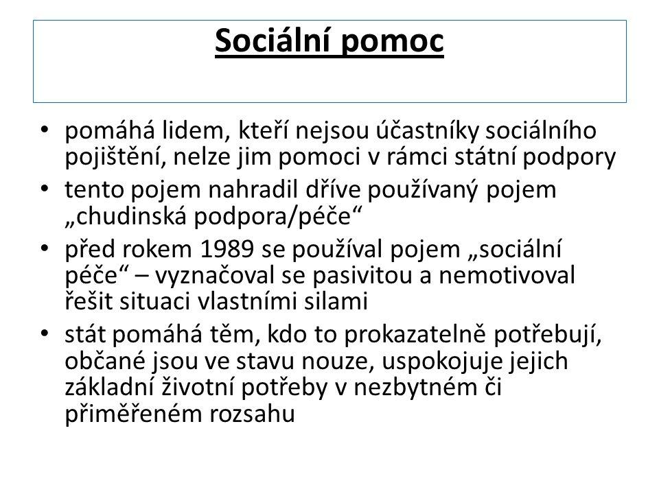 Sociální služba = služba veřejná je používaná v těchto souvislostech: jako druh sociální péče poskytované konáním státní instituce ve prospěch jiné osoby širší pojetí - jako činnosti ve prospěch občanů poskytované soukromoprávní či veřejnoprávní institucí přímo jako sociální práce ve prospěch lidí v sociální nouzi může být poskytována bezúplatně nebo za úplatu