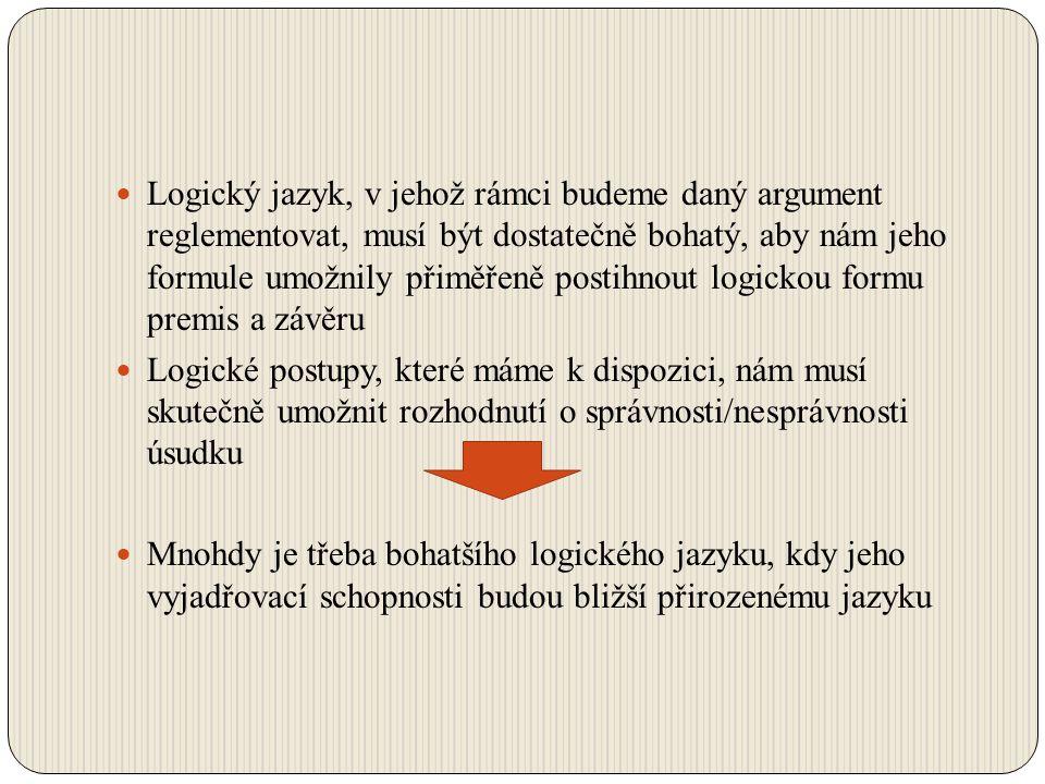 Paradoxy na úsvitu moderní logiky Matematizace logiky zpřesnění jazyka logiky bez víceznačností a neurčitostí paradoxů Bertrand Russell upozorňuje Fregeho na paradox jeho jazyk umožňuje odvodit cokoli z čehokoli – Russellův paradox Vlastnosti mající sama sebe (být vlastností, mít označení v češtině) Vlastnosti nemající sama sebe (být krávou, být teplý..) P: Vlastnost nemít sama sebe nemá sama sebe P: Množina všech množin, které nejsou prvkem sebe sama, není prvkem sebe sama Vyvrací sám sebe – je pravdivý právě tehdy, když je nepravdivý a naopak