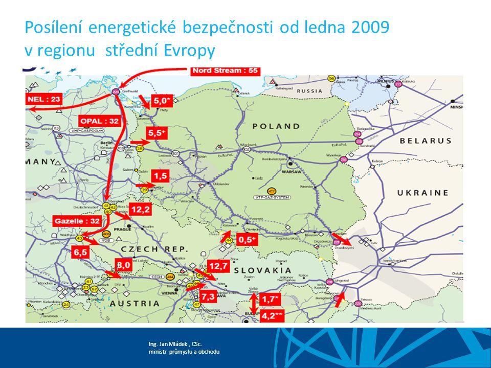 Ing. Jan Mládek, CSc. ministr průmyslu a obchodu Posílení energetické bezpečnosti od ledna 2009 v regionu střední Evropy