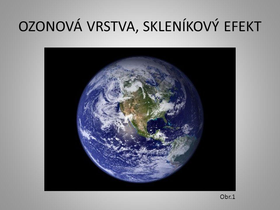 OZONOVÁ VRSTVA, SKLENÍKOVÝ EFEKT Obr.1
