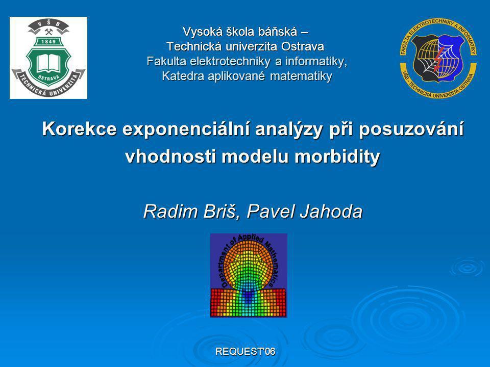REQUEST 06 Osnova 1.Model POSSUM Účel modelu POSSUMÚčel modelu POSSUM Konstrukce modelu POSSUMKonstrukce modelu POSSUM 2.Exponenciální analýza pro verifikaci modelu POSSUM Původní algoritmus exponenciální analýzyPůvodní algoritmus exponenciální analýzy Modifikovaný algoritmus exponenciální analýzyModifikovaný algoritmus exponenciální analýzy Aplikace exponenciální analýzyAplikace exponenciální analýzy