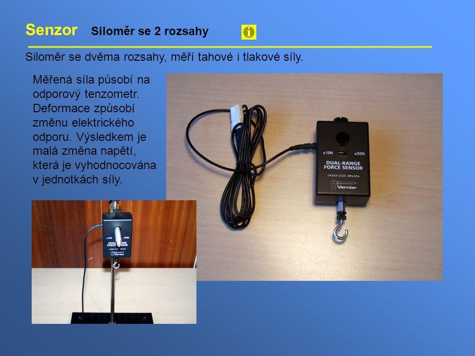 Senzor Siloměr se 2 rozsahy Siloměr se dvěma rozsahy, měří tahové i tlakové síly. Měřená síla působí na odporový tenzometr. Deformace způsobí změnu el