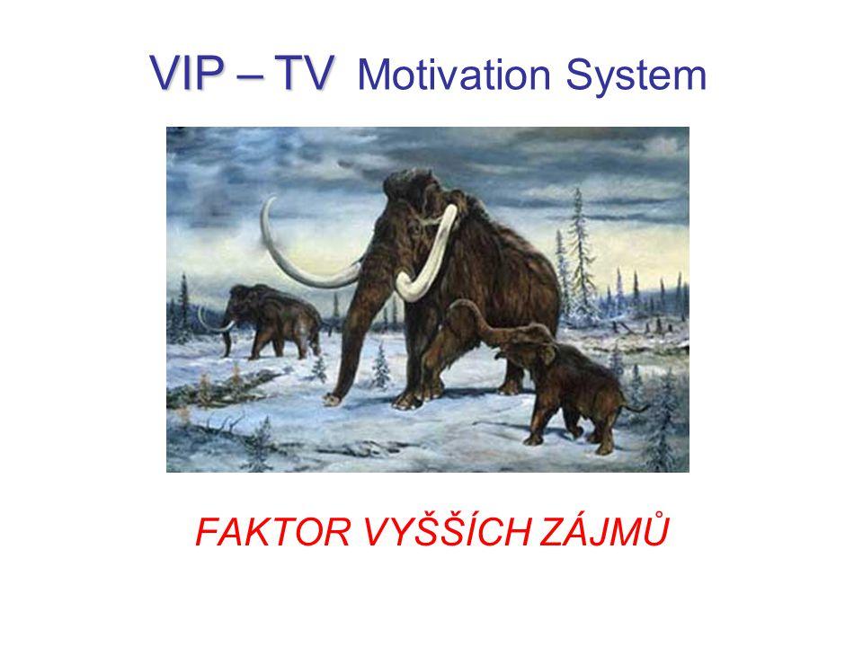 FAKTOR VYŠŠÍCH ZÁJMŮ VIP – TV VIP – TV Motivation System
