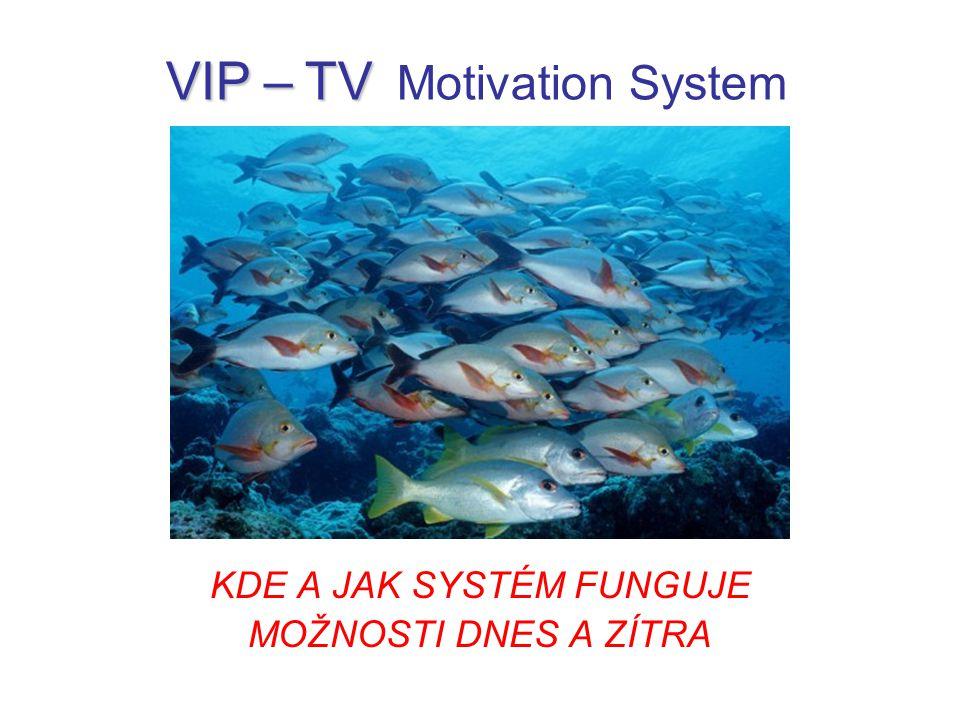 KDE A JAK SYSTÉM FUNGUJE MOŽNOSTI DNES A ZÍTRA VIP – TV VIP – TV Motivation System