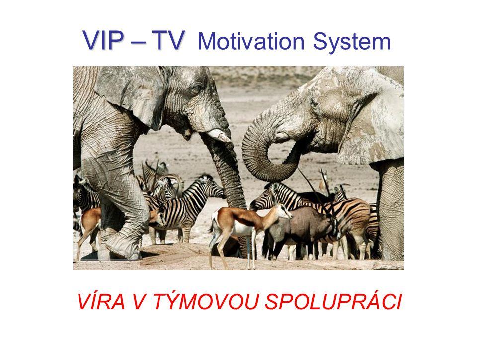 VÍRA V TÝMOVOU SPOLUPRÁCI VIP – TV VIP – TV Motivation System