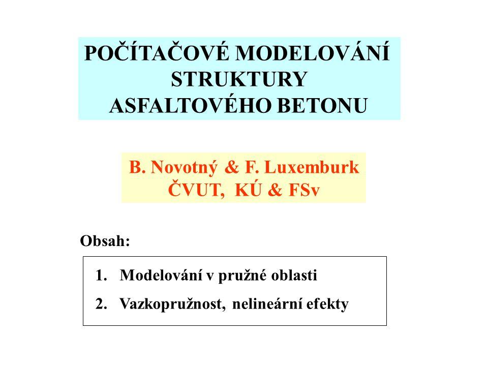 POČÍTAČOVÉ MODELOVÁNÍ STRUKTURY ASFALTOVÉHO BETONU B.