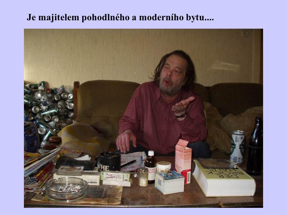 Je majitelem pohodlného a moderního bytu....