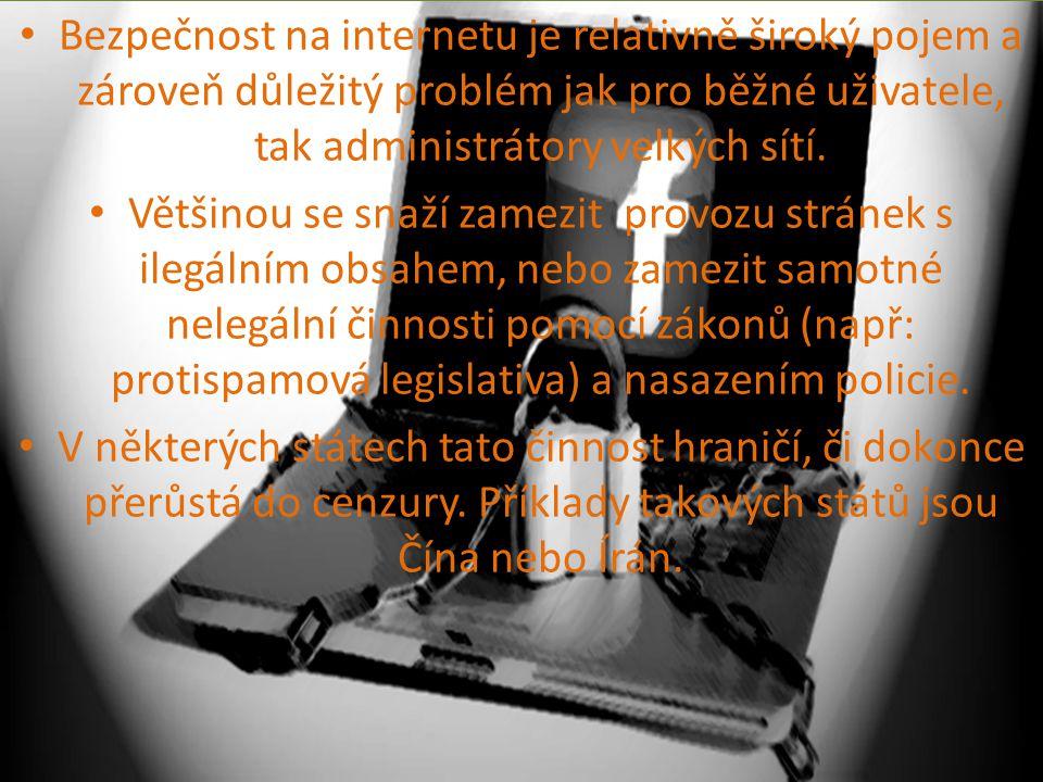 Bezpečnost na internetu je relativně široký pojem a zároveň důležitý problém jak pro běžné uživatele, tak administrátory velkých sítí.
