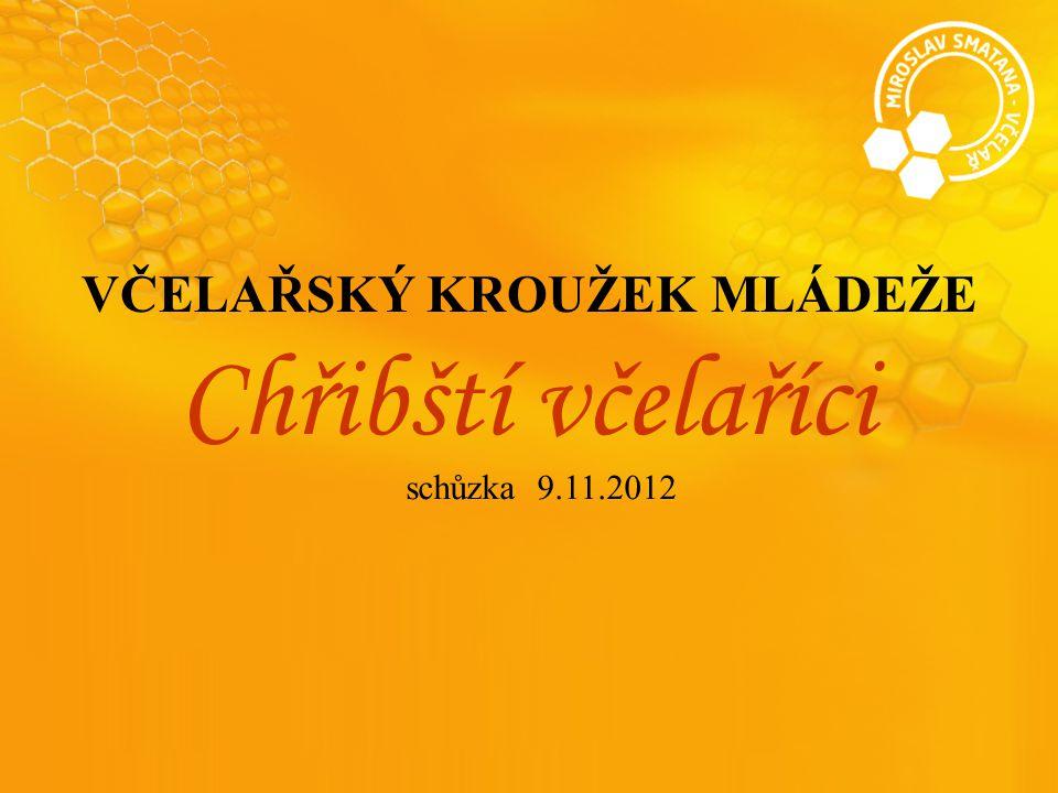VČELAŘSKÝ KROUŽEK MLÁDEŽE Chřibští včelaříci schůzka 9.11.2012