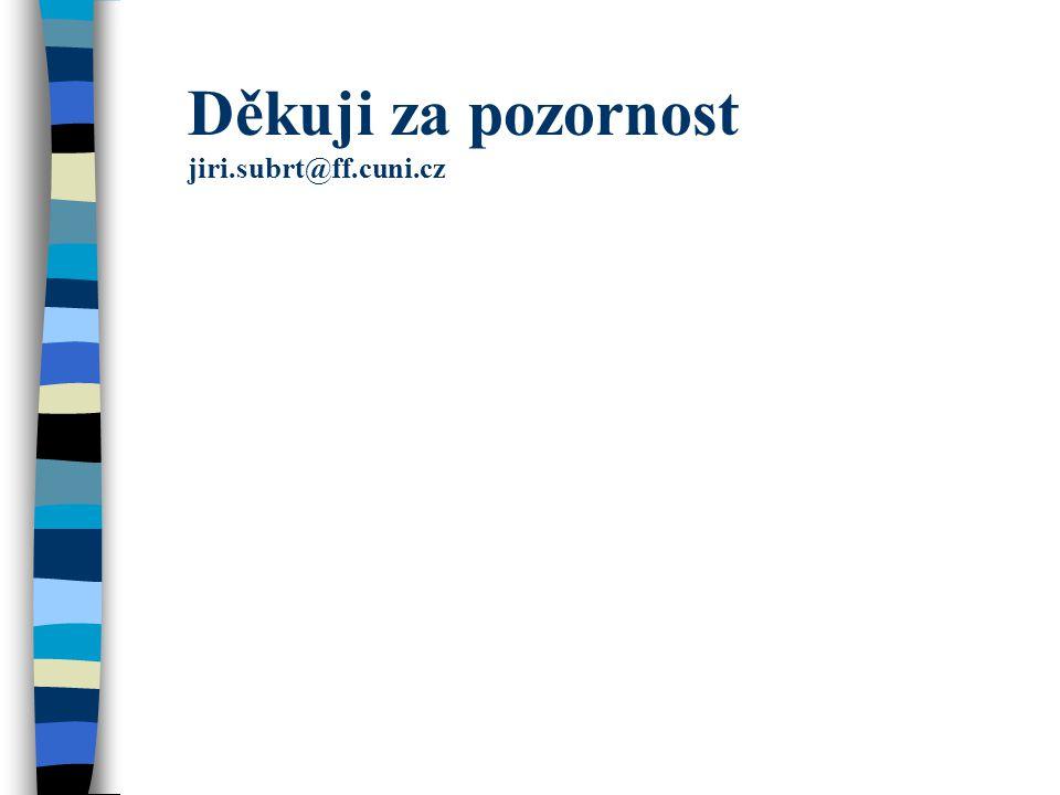 Děkuji za pozornost jiri.subrt@ff.cuni.cz