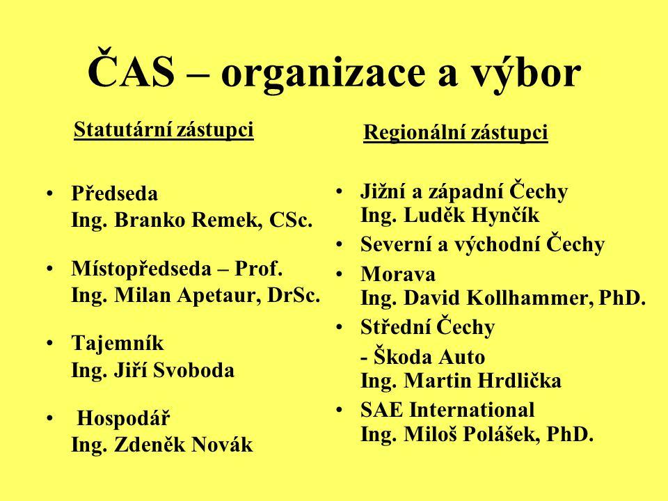 ČAS – organizace a výbor Statutární zástupci Předseda Ing.