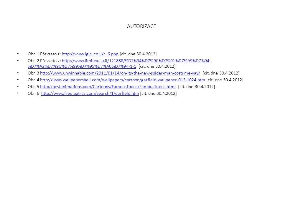 AUTORIZACE Obr. 1 Převzato z: http://www.igirl.co.il/r_6.php [cit. dne 30.4.2012]http://www.igirl.co.il/r_6.php Obr. 2 Převzato z: http://www.limitex.