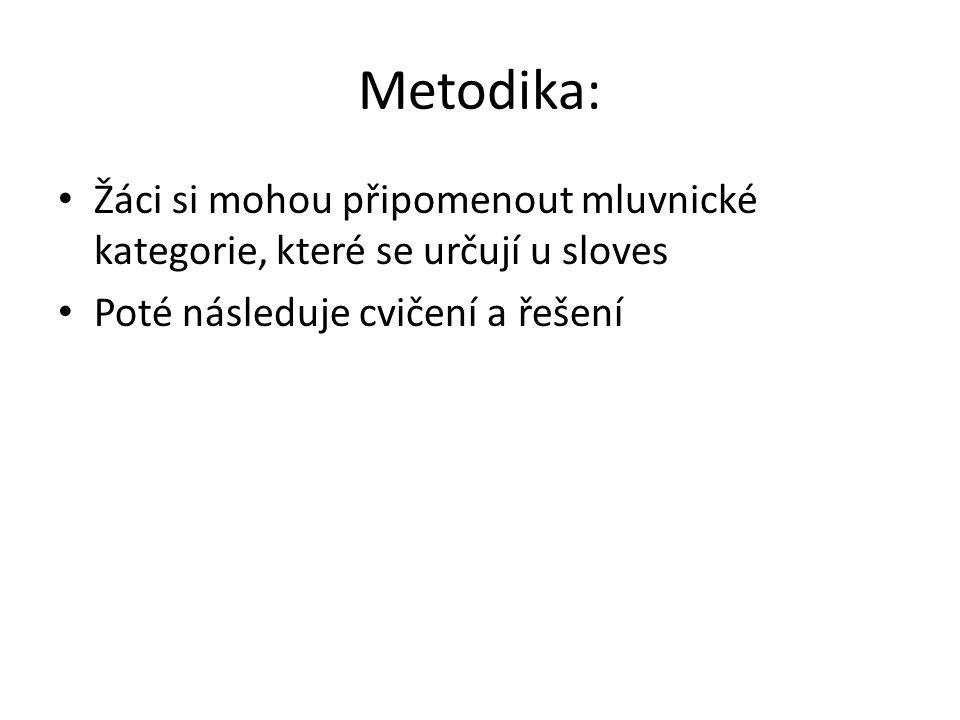 Mluvnické kategorie u sloves OSOBA1.2.3.