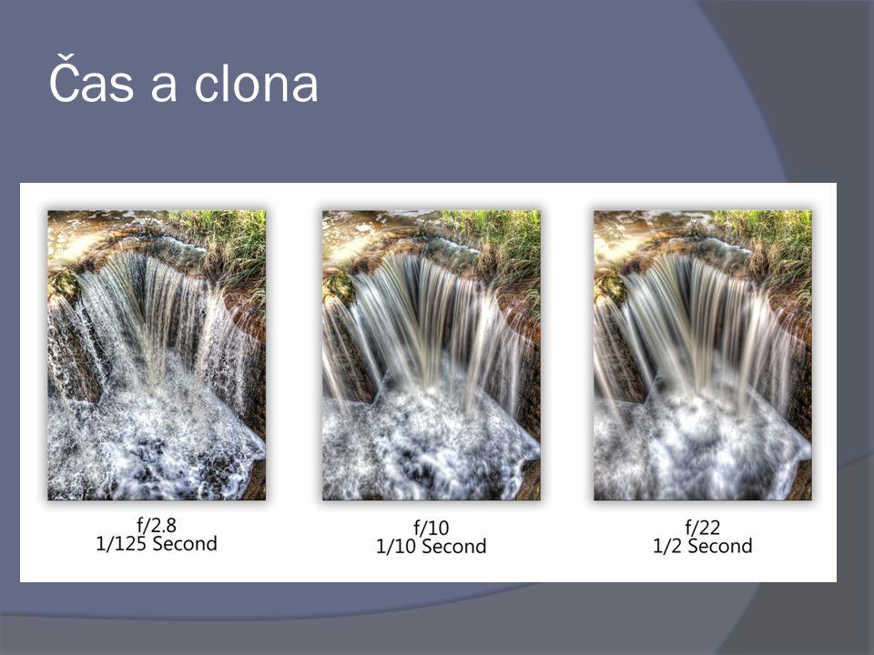 Čas a clona